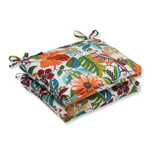 Outdoor Lensing Jungle Squared Corners Seat Cushion, Set of 2