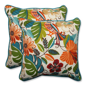 Outdoor Lensing Jungle 18.5-Inch Throw Pillow, Set of 2