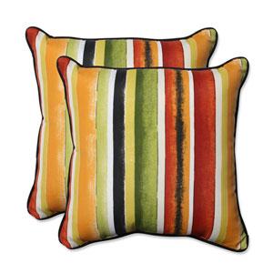 Outdoor Dina Noir 18.5-Inch Throw Pillow, Set of 2