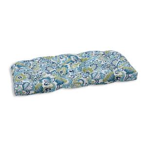 Outdoor Zoe Mallard Wicker Loveseat Cushion