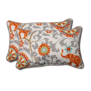 Outdoor Menagerie Cayenne Rectangular Throw Pillow, Set of 2