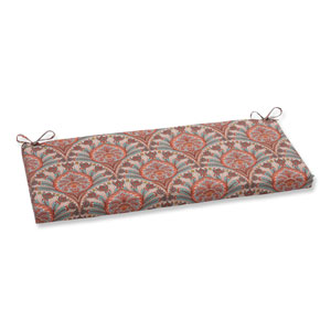 Outdoor Crescent Beach Coral Bench Cushion