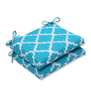 Outdoor Kobette Teal Squared Corners Seat Cushion, Set of 2