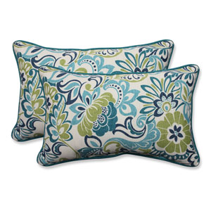 Outdoor Zoe Mallard Rectangular Throw Pillow, Set of 2