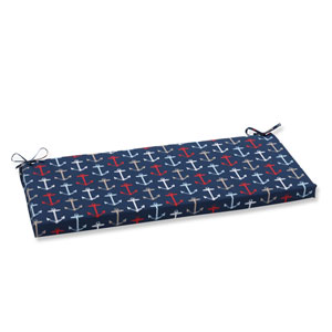 Outdoor Anchor Allover Arbor Navy Bench Cushion