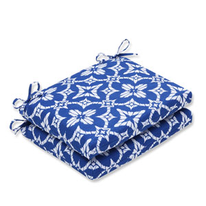 Outdoor Aspidoras Cobalt Squared Corners Seat Cushion, Set of 2