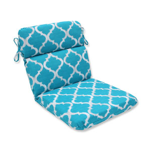 Outdoor Kobette Teal Rounded Corners Chair Cushion