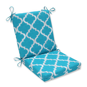 Outdoor Kobette Teal Squared Corners Chair Cushion