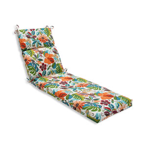 Outdoor Lensing Jungle Chaise Lounge Cushion