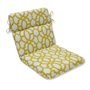 Outdoor Nunu Geo Wasabi Rounded Corners Chair Cushion