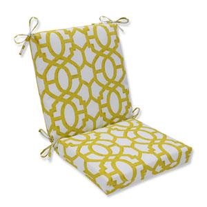 Outdoor Nunu Geo Wasabi Squared Corners Chair Cushion