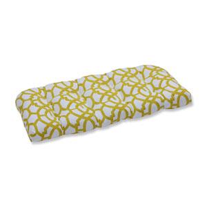 Outdoor Nunu Geo Wasabi Wicker Loveseat Cushion