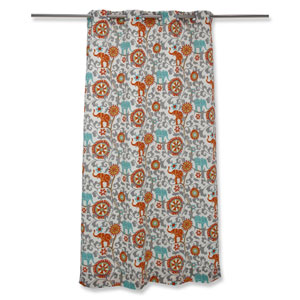 Outdoor / Indoor Menagerie Cayenne 94-Inch Drapery Panel