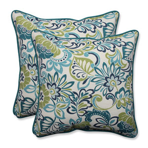 Outdoor Zoe Mallard 18.5-Inch Throw Pillow, Set of 2