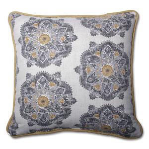 Suri Medallion Greystone 16.5-inch Throw Pillow