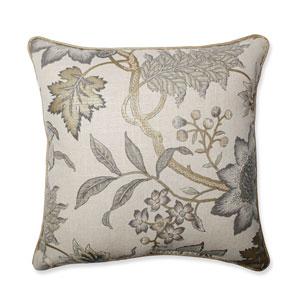 Jacobean Flair Vermeil 18-Inch Throw Pillow