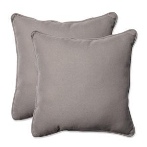 Outdoor Tweed Gray 18.5-Inch Throw Pillow, Set of 2