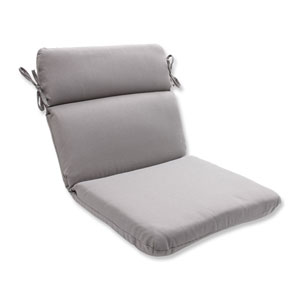 Outdoor Tweed Gray Rounded Corners Chair Cushion