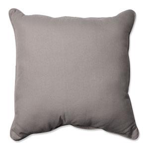 Outdoor Tweed Gray 25-Inch Floor Pillow