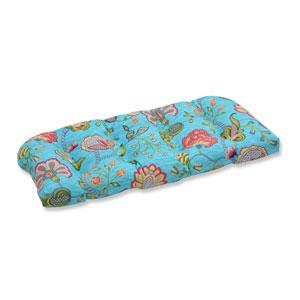 Outdoor Arabella Caribbean Blue Wicker Loveseat Cushion