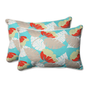Outdoor Avia Surf Over-sized Rectangular Throw Pillow, Set of 2