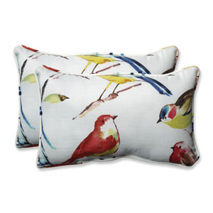 Outdoor / Indoor Bird Watchers Summer Rectangular Throw Pillow (Set of 2)