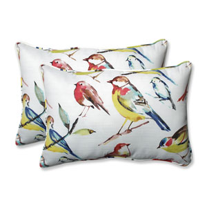 Outdoor / Indoor Bird Watchers Summer Over-sized Rectangular Throw Pillow (Set of 2)
