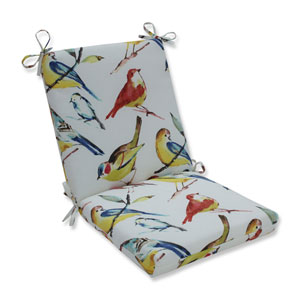 Outdoor / Indoor Bird Watchers Summer Squared Corners Chair Cushion
