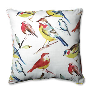 Outdoor / Indoor Bird Watchers Summer 25-Inch Floor Pillow
