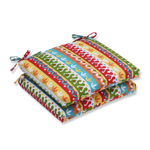 Outdoor Cotrell Garden Squared Corners Seat Cushion, Set of 2