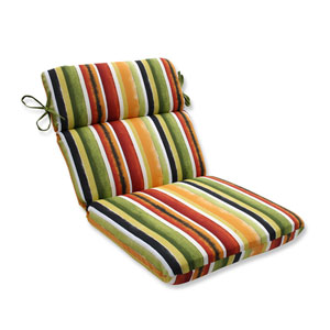 Outdoor Dina Noir Rounded Corners Chair Cushion