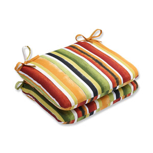 Outdoor Dina Noir Rounded Corners Seat Cushion, Set of 2