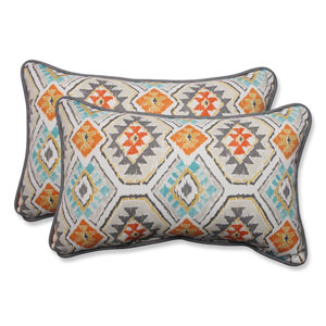 Outdoor Eresha Oasis Rectangular Throw Pillow, Set of 2