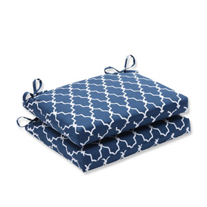 Outdoor Garden Gate Navy Squared Corners Seat Cushion, Set of 2