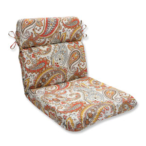 Outdoor Hadia Sunset Rounded Corners Chair Cushion