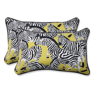 Outdoor Herd Together Wasabi Rectangular Throw Pillow, Set of 2