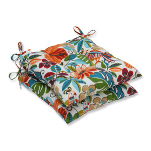 Outdoor Lensing Jungle Wrought Iron Seat Cushion, Set of 2