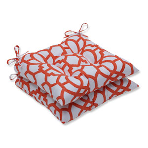 Outdoor Nunu Geo Mango Wrought Iron Seat Cushion, Set of 2