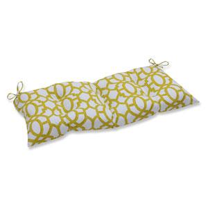 Outdoor Nunu Geo Wasabi Wrought Iron Loveseat Cushion