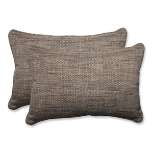 Set of 2 Pillow Perfect Outdoor//Indoor Remi Patina Wicker Seat Cushion