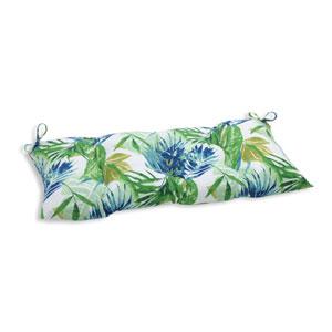 Outdoor Soleil Blue/Green Wrought Iron Loveseat Cushion