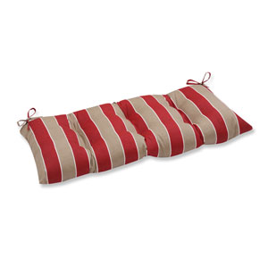 Outdoor Wickenburg Cherry Wrought Iron Loveseat Cushion