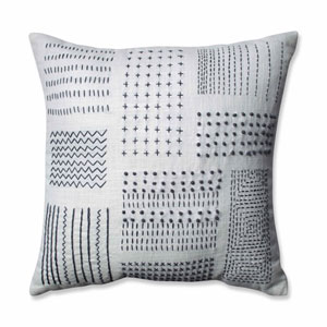 Tribal Sampler Cream-Gray 16.5-Inch Throw Pillow