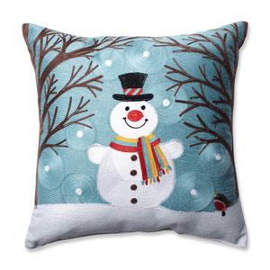Winter Wonderland Frost 16.5-Inch Throw Pillow