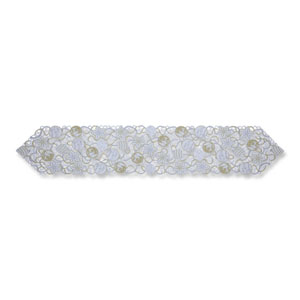 Ornaments White-Silver 68-Inch Table Runner