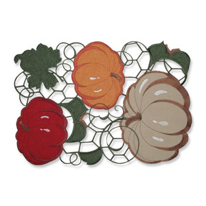 Pumpkin Stack Harvest Placemat (Set of 2)