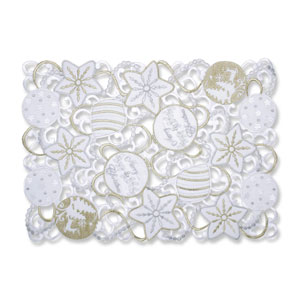 Ornaments White-Silver Placemat (Set of 2)