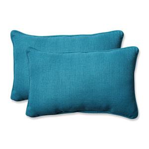 Outdoor / Indoor Rave Peacock Rectangular Throw Pillow (Set of 2)