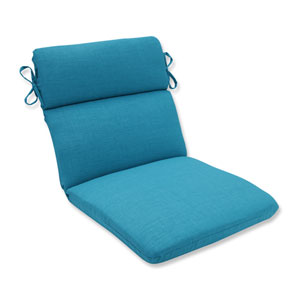 Outdoor / Indoor Rave Peacock Rounded Corners Chair Cushion