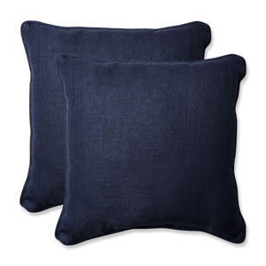 Outdoor / Indoor Rave Indigo 18.5-Inch Throw Pillow (Set of 2)